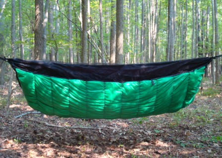 Medium image of mt washington underquilt on a jrb bear mountain bridge hammock photo by jrb
