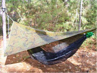 Vicku0027s Poncho Tarp Photo by Vick & Just Jeffu0027s Hammock Camping Page