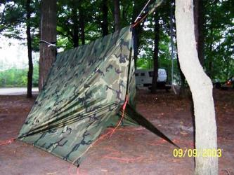 with a 10 u0027x10 u0027 or bigger tarp you can configure like these and have all the privacy you want changing clothes    just lower the tarp   rh   hammockforums