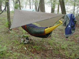 Coy S Sleeping Bag Over Homemade Hammock Photo By Youngblood