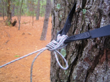 this is the standard figure 8 lashing detailed on the hennessy hammock stuffsack and website  it u0027s also called a lineman u0027s knot or lash and hammockers     just jeff u0027s hammock camping page  rh   tothewoods