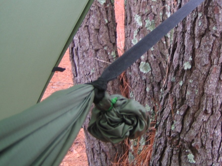 as i said above i think the larkshead or girth hitch is one of the simplest methods of attaching webbing or cord to a hammock  for webbing i have a sewn     just jeff u0027s hammock camping page  rh   tothewoods