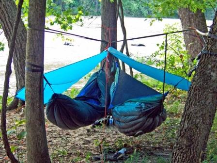 elevated camping meet hammock tent the hammocks sky peak nest snow