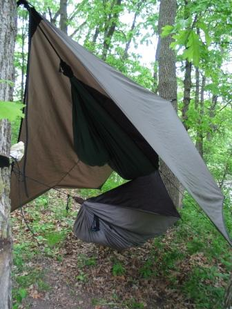 tarp 4 2 hanging in trail shelters 4 3 hanging with rock climbing gear