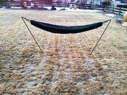 And A Close Up Of The Strut With The Hammock Weighted.