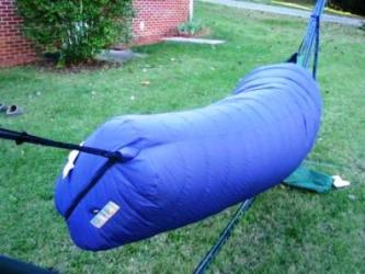 Sleeping Bag Around Hammock
